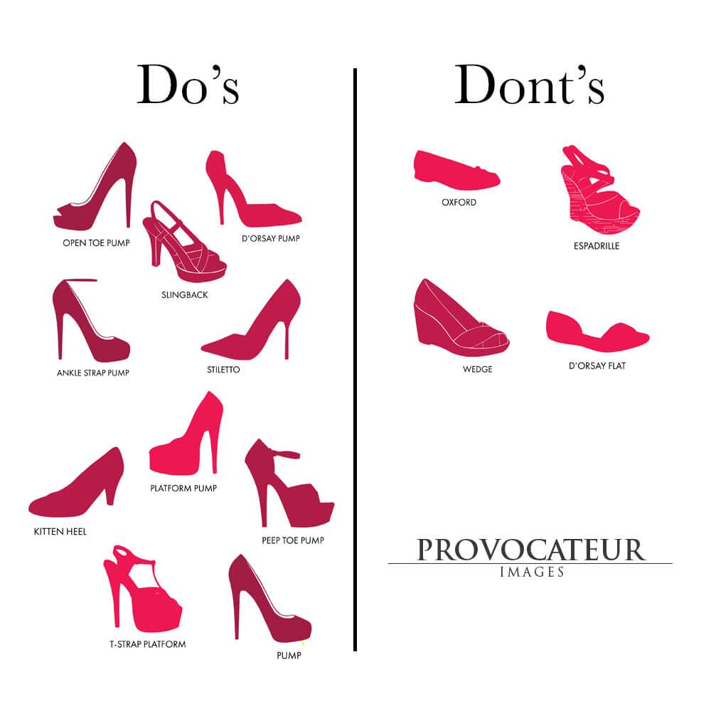 toronto boudoir shoe style guide